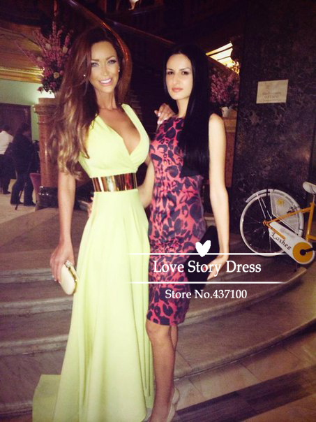 Aliexpress.com : buy charming v neck light yellow gold belt chiffon maxi long celebrity dresses 2014 new arrival prom dresses special occasion dress from reliable dress hem suppliers on suzhou lovestorydress co. , ltd
