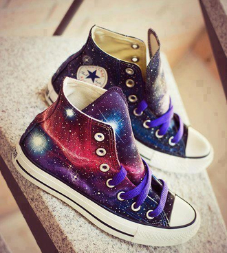 shoes converse cosmic space galaxy print