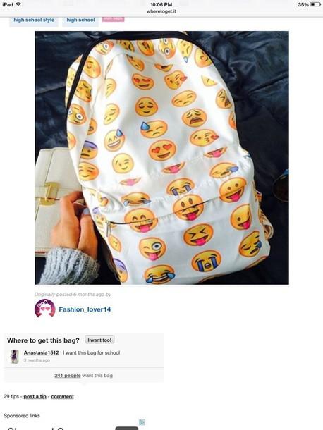 bag emojis backpack backpack emoji print school bag back to school