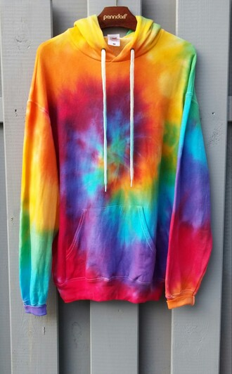 sweater color tie dye sweater tie dye dress 90s jacket 90s style 90's kid grunge swag hipster tumblr fashion diy