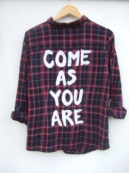 nirvana grunge come as you are flannel