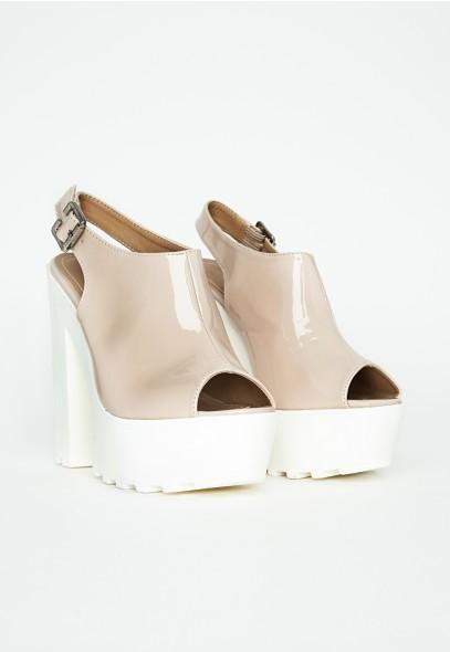Missguided - Naini Nude Extreme Platform Heels