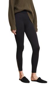 leggings,zip,black,pants