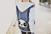 jacket,hoodie,coat,panda,kfashion,kfashion probably,white hood,cardigan