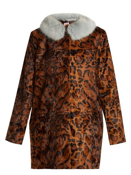 Shrimps coat fur coat fur print
