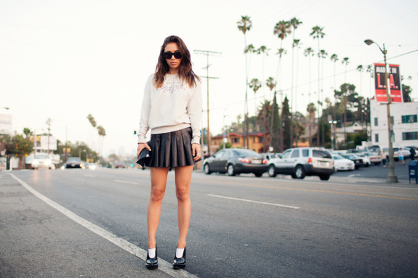 fashion toast skirt sweater