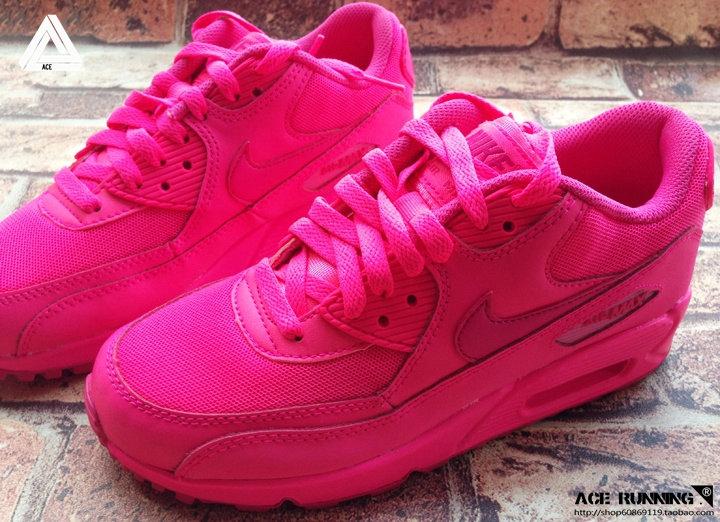 Nike Air Max 90 Dark Pink Custom Runing Shoes
