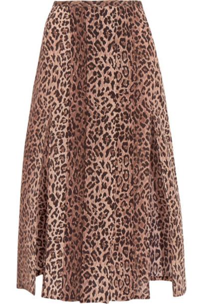74b5cb96cba8 RIXO London - Georgia Pleated Leopard-print Silk Skirt - Leopard print