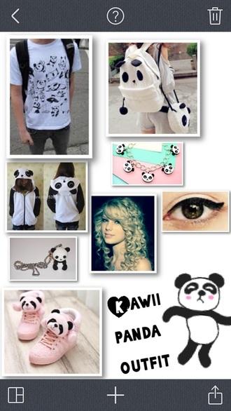 shirt panda kwaii pastel