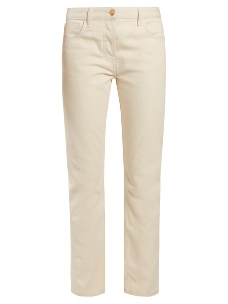 The Row fit cream pants