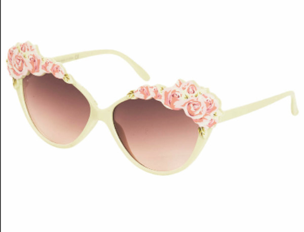 sunglasses girly vintage cute flowers flowers floral rose green sunglasses