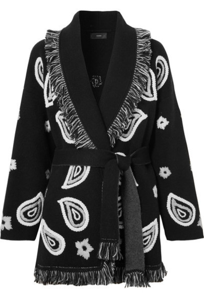 Alanui cardigan cardigan embroidered black sweater