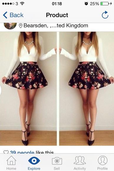 short skirt autum skater