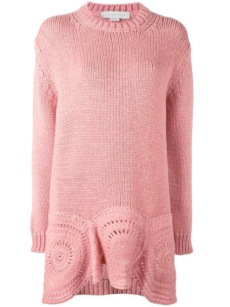 Stella McCartney jumper knit women wool purple pink crochet sweater