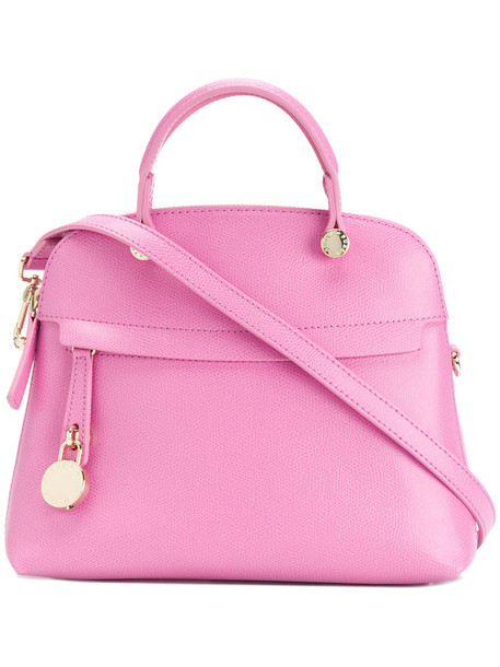 Furla - Piper tote - women - Calf Leather - One Size, Pink/Purple, Calf Leather