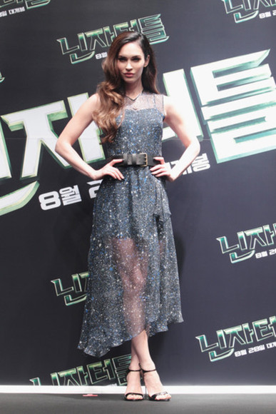 megan fox dress sheer