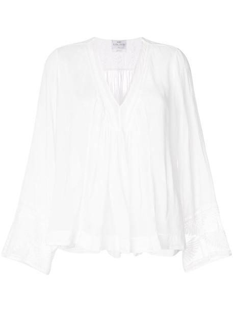 Forte Forte blouse sheer women white cotton silk top