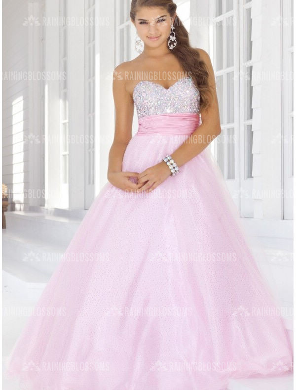 dress ball gown prom dress pink prom dress