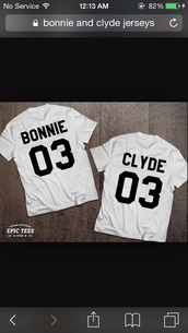 shirt,bonnie and clyde