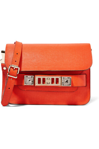 mini bag shoulder bag leather orange bright