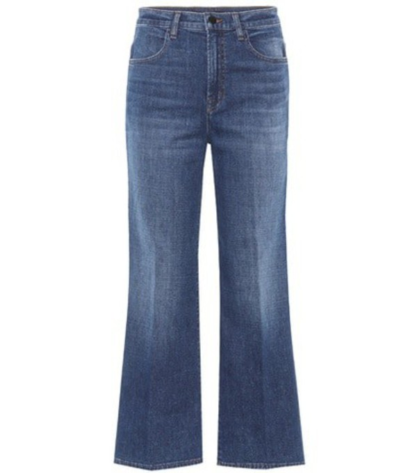 J Brand Joan high-waisted cropped jeans in blue