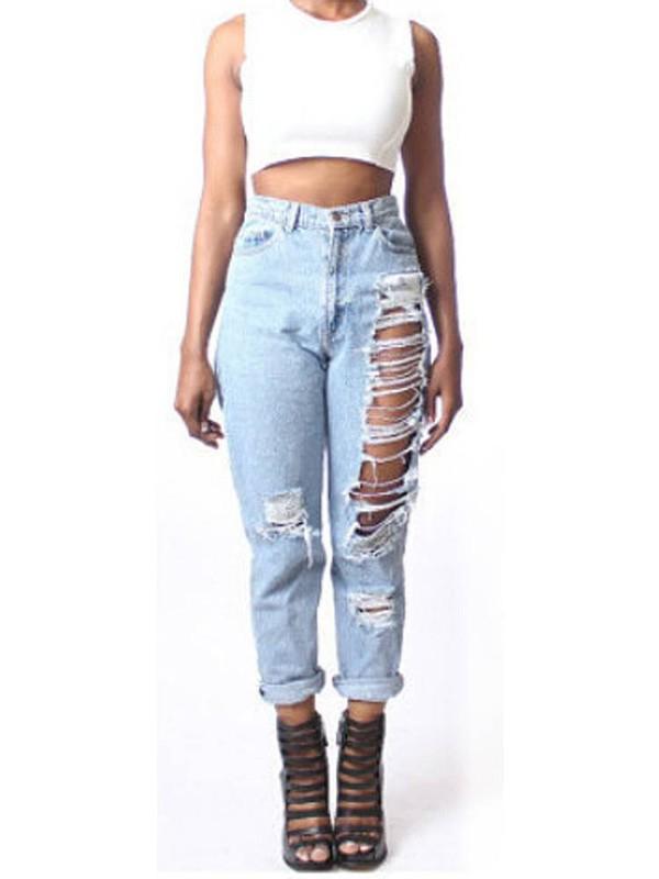Jeans: acid wash jeans, white ripped jeans, blue jeans, boyfriend ...