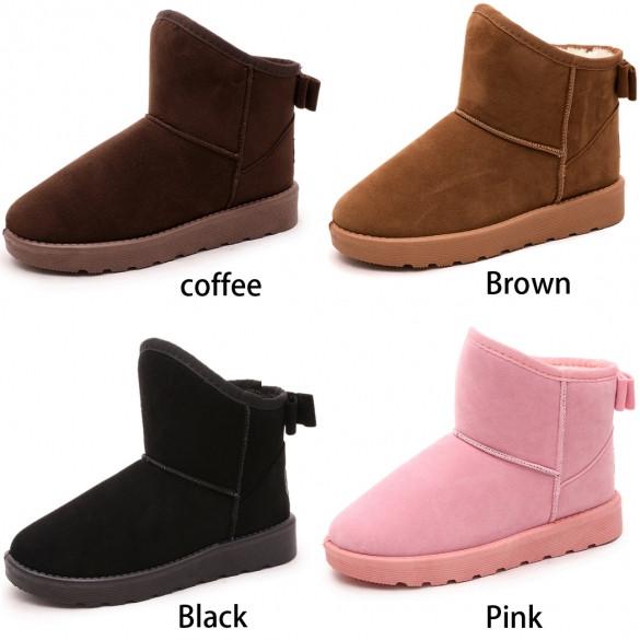 Ribbon Pom Pom Boots Doreen