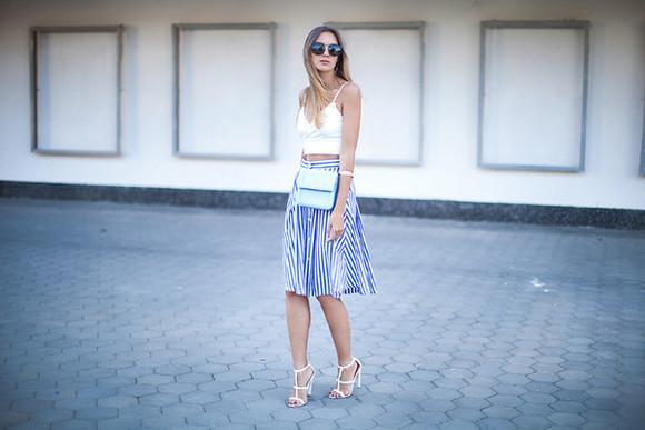 blogger sunglasses shoes bag top skirt fashion agony