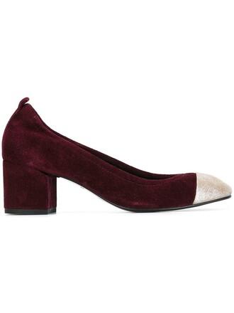 heel pumps purple pink shoes