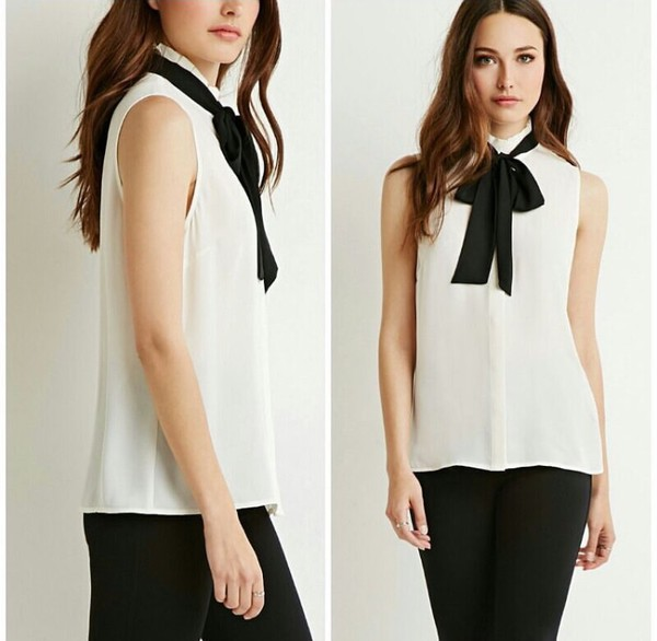 Pleated Bow Front Blouse Forever 21 Canada