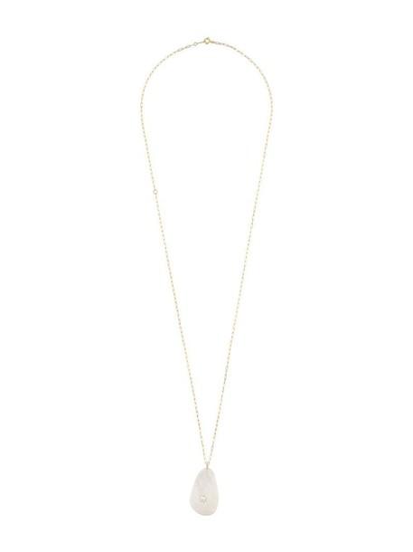 Cvc Stones long necklace long women necklace gold grey metallic jewels