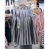 skirt,blue,blue skirt,chrome,metallic,metallic pleated skirt,long skirt,streetstyle,grunge,fashion