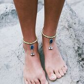 jewels,shop dixi,gypsy,boho,bohemian,hippie,grunge,jewelry,jewelery,sterlingsilver,anklet,beach