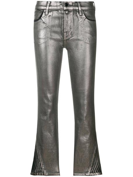 J BRAND cropped women cotton grey pants