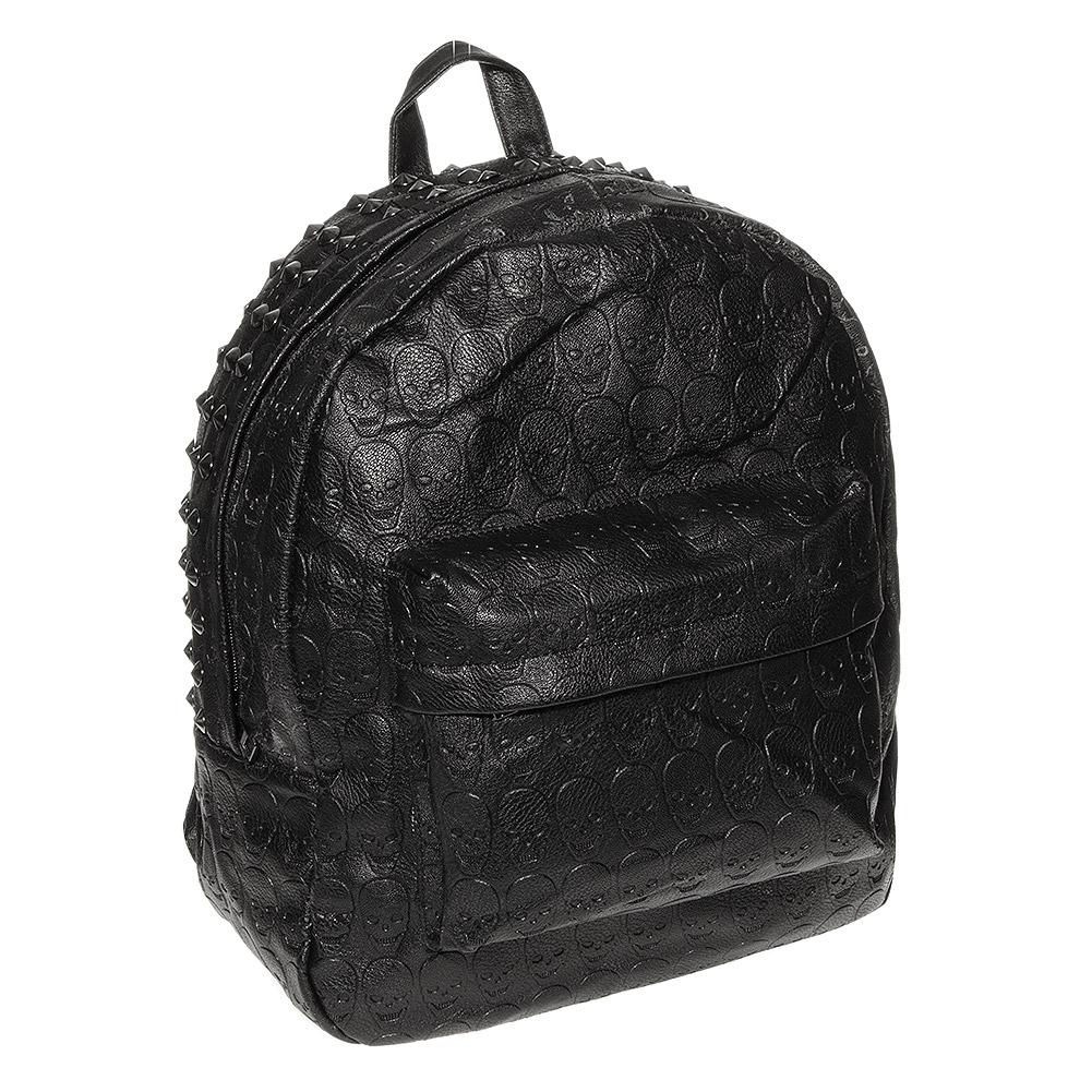 Blue banana skull stud backpack (black)