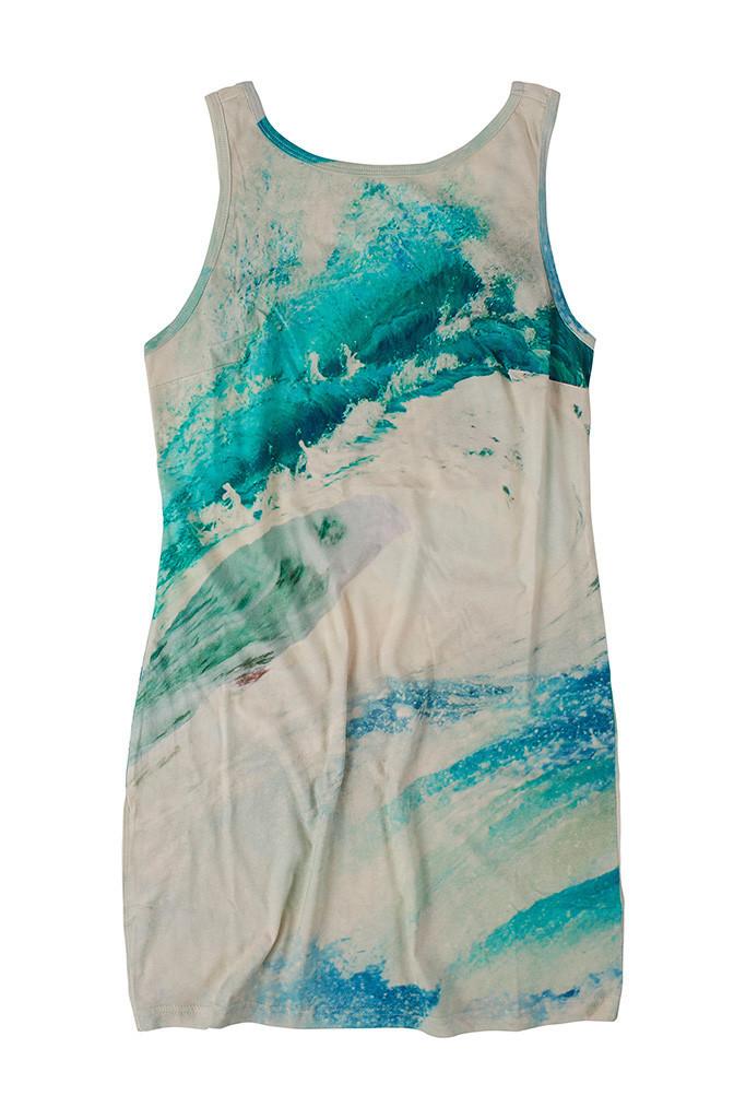 Scoop back wave dress