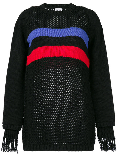 Akep open women black wool knit jewels