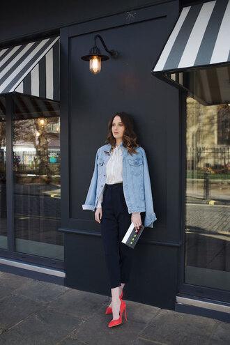 at fashion forte blogger jacket shirt pants jewels bag shoes
