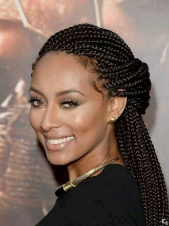 make-up box braids black girls killin it braid