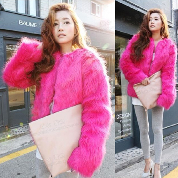 Vintage Women Faux Fur Coat Winter Warm Outwear Long Hair Jackets Overcoat Tops Free shipping & Drop shipping HQ0001-in Fur & Faux Fur from Apparel & Accessories on Aliexpress.com