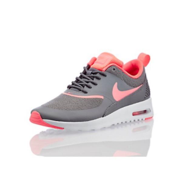 shoes, grey, orange/pink, nike air max