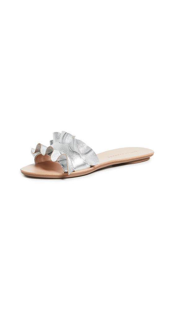 Loeffler Randall Birdie Ruffle Slides in silver