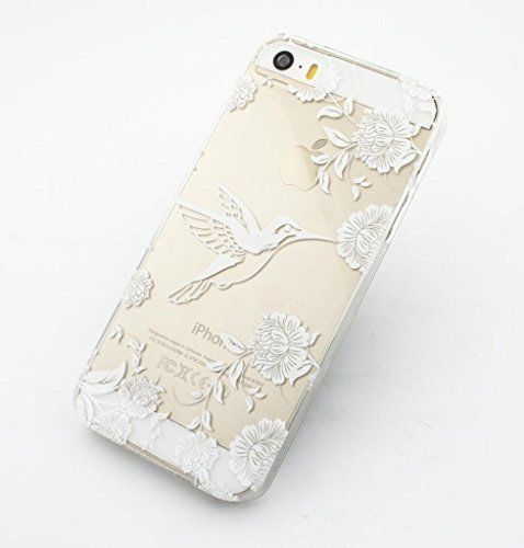 Plastic case cover for iphone 5 5s 5c 6 6plus henna vintage hummingbird floral