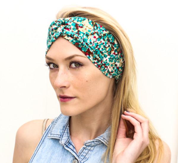 scarf turban turband silk handmade headband