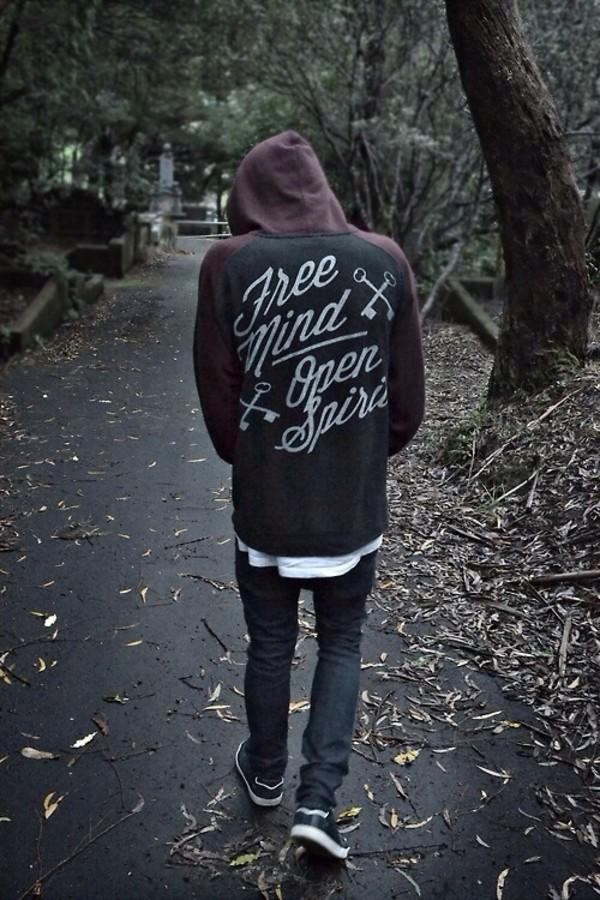 jacket coat black jacket quote on it