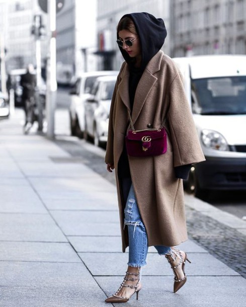 a49deb2ee717f8 coat masculine coat oversized camel coat camel hoodie black hoodie denim  jeans blue jeans ripped jeans