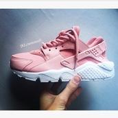 shoes,pink,baby pink,pink huaraches,blush pink,pink blush polvyore skirtt,huarache,nike,nike shoes,nike running shoes,nike air,nike sneakers,jklcustoms
