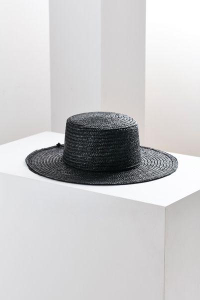 Vanessa Straw Boater Hat