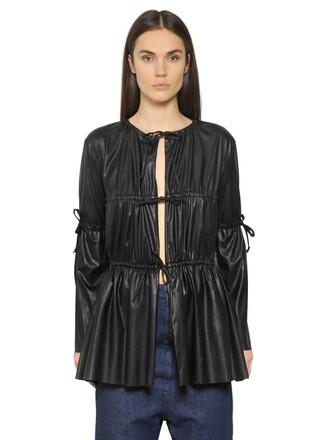 jacket light leather black