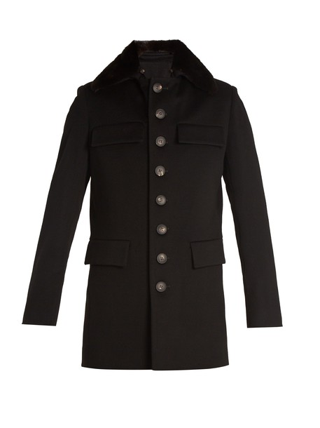 WALES BONNER coat wool black